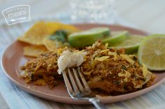 Better Than The Freezer Aisle: Copycat Lean Cuisine Tortilla Crusted Fish - Once A Month Meals - Freezer Meals - Freezer Cooking - OAMM - OAMC
