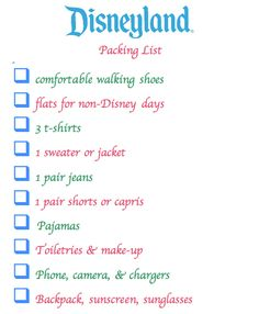 What to Wear to Disneyland + Printable Packing List