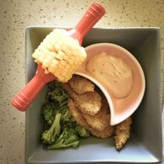 Chicken.......Nuggets? Healthy & easy to make. Great for kids meals. Excellent finger food for grown-ups.