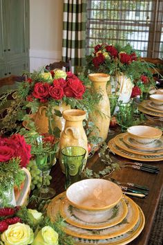 I love this table setting.