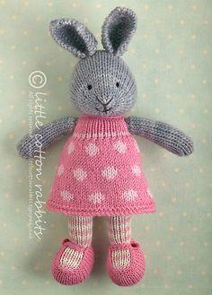 Ravelry: bunnyknitter's bunny girl in a dotty dress