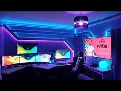 Discover recipes, home ideas, style inspiration and other ideas to try. Ultimate Gaming Setup, Best Gaming Setup, Cool Gaming Setups, Gaming Desk Setup, Pc Setup, Office Setup, Office Workspace, Design Websites, Gaming Logo
