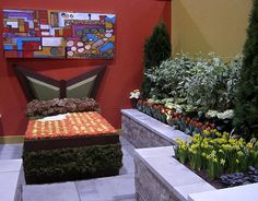 A flower bed by D.A. Gracey & Associates at Canada Blooms 2013