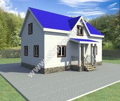 Дом из пеноблоков ПП-006 6х9м