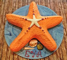 starfish birthday cake