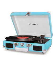 Crosley Turntable Record Player... love the color!!