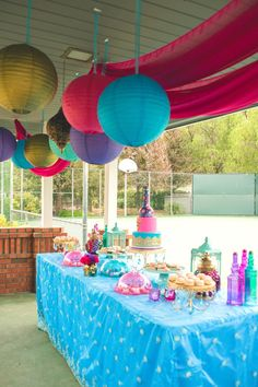 Dessert table from a Moroccan Genie Party via Kara's Party Ideas | KarasPartyIdeas.com (10)