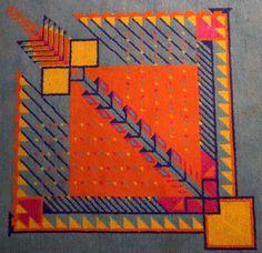 Carpet designed by Frank Lloyd Wright