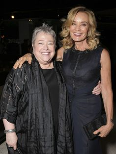 Friends Forever! Jessica Lange & Kathy Bates --- Waiting for American Horror Story:  Freakshow --- October 2014