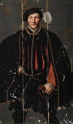 A Man, possibly William West, 1st Lord De La Warr, ca. 1550 (Unknown British School Artist) Tate Britain, London, N04252
