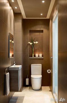 Washroom Design, Bathroom Design Luxury, Bathroom Tile Designs, Bathroom Layout, Bathroom Ideas, Small Toilet Design, Small Toilet Room, Small Bathroom, Tiny Bathrooms