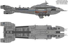 An early Battlestar type in Blood and Chrome Kampfstern Galactica, Battlestar Galactica, Spaceship Design, Spaceship Concept, Sci Fi Fantasy, Fantasy World, Sci Fi Spaceships, Ship Of The Line, Sci Fi Ships