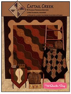 Cattail Creek Quilt and Table Runner Pattern Kansas Troubles Quilters