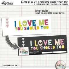 Paper Play 11 | Templates + Bonus Facebook Cover Template by Akizo Designs