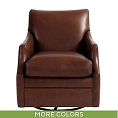 Larkin Leather Swivel Chair