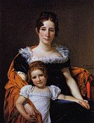 """New artwork for sale! - """" David Jacques Louis Portrait Of The Comtesse Vilain Xiiii And Her Daughter by Jacques Louis David """" - http://ift.tt/2qo0WzI"""
