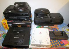 Console Collection, 2013 - Sega: Genesis (Models 1 & 2), Sega CD (Models 1 & 2), 32X, Saturn, Dreamcast, Power Base Converter (to play Master System games on Genesis), Game Gear