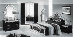 Feeling Bed With Black High-Backed Headboard Modern Bedroom, Luxury, Italian Luxury, Living Room Designs, Bedroom Sets, Luxury Bedroom Sets, Modern, Bedroom, Room Decor