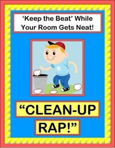 Add an ACTIVE GROUP GAME to your CLEAN-UP TIME! A great rhythm pattern can easily 'pump up' those daily chores! The 10 easy verses let your kids CREATE RHYMES FROM CONTEXT CLUES. Good things happen when we work together-- COOPERATION ROCKS! (6 pages) From Joyful Noises Express TpT! $