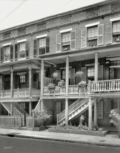 "1937. Charleston, South Carolina. ""18 & 20 Wentworth Street"