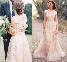 deep-v-cap-sleeves-pink-lace-applique-tulle