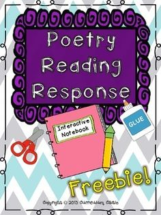 Interactive Notebook: Poetry Response for 1st and 2nd Grade Freebie