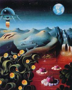 The Science Fiction Gallery Art Et Illustration, Illustrations, Art Inspo, Art Science Fiction, Science Art, Art Visionnaire, Psychadelic Art, 70s Sci Fi Art, Book Cover Art