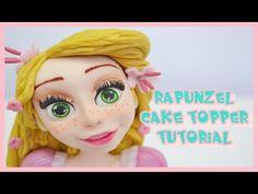 rapunzel cake topper tutorial - principessa in pasta di zucchero torta decorata - YouTube