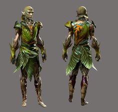 Outfit for the Evalians? Character Creation, Character Art, Character Design, Forest Creatures, Fantasy Creatures, Children Of The Forest, Green Knight, Guild Wars 2, Fantasy Races