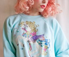 Glitter horse pullover by LeMewVintage on Etsy, $22.00