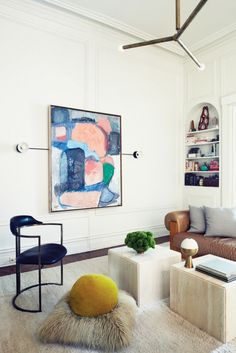modern living room belonging to the founders of apparatus studio | via coco+kelley