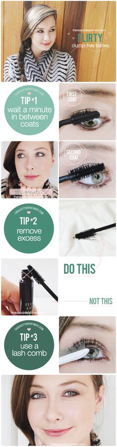 Three rules for clump-free lashes!