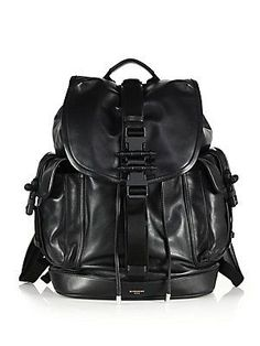 Givenchy Obsedia Leather Backpack - Black