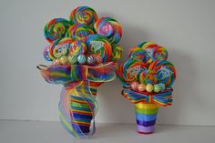 """Lollipop Maid of Honor/Small Bouquet Rainbow by EdibleWeddings, $29.99(Design patent pending, please do not add to """"Craft"""" boards)"""