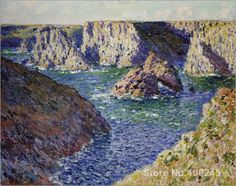 >> Click to Buy << Gift custom Landscape Painting The rocks of Belle Ile. In by Claude Monet High Quality Hand painted #Affiliate