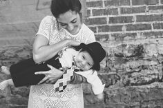 cute vintage inspired modern family photos