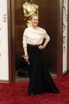 Meryl Streep in Lanvin. I love the fact that she did a blouse and skirt. Who does that? Meryl, of course...cuz she can do whatever she wants.