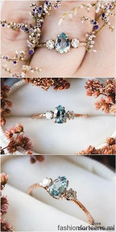 15 Alternative Engagement Rings from Etsy Aquamarine pear moissanite and gold twig engagement ring More from my site 14 Karat Roségold Marquise Diamanten Ehering Massiv 14 Karat Rose Unique Rings, Beautiful Rings, Pretty Rings, 14 Carat, Accesorios Casual, Alternative Engagement Rings, Colored Engagement Rings, Rustic Engagement Rings, Solitaire Engagement