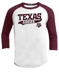 df0361da Texas A&M Aggies 3/4 Raglan Swoosh Baseball T-Shirt