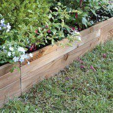 Bordures de jardin en palettes   Récup, créer, fabriquer   Pinterest ...
