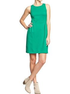 Women's Ponte-Knit Shift Dresses Product Image