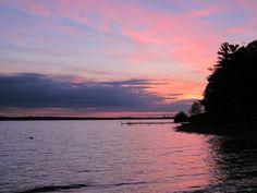 sunset over Lake Charlevoix