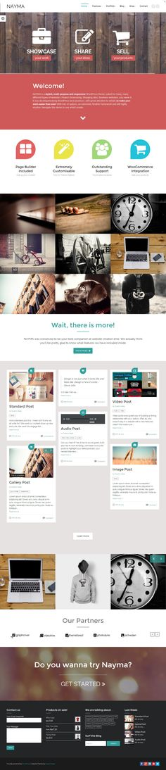 Nayma - Responsive Multi-Purpose WordPress Theme #web #design #wordpress