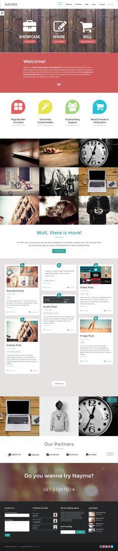 Nayma - Responsive Multi-Purpose WordPress Theme #web #design #wordpress