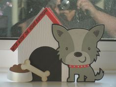 'With woof on your birthday' card using Cricut Create a Critter