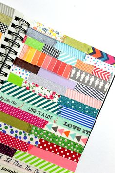washi tape reference guide art journal by Lauren-Likes