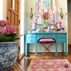 Plywood Furniture, Painted Furniture, Colorful Furniture, Decoration Baroque, Hollywood Regency Decor, Interior Minimalista, Ideas Hogar, Spring Home Decor, Bohemian Decor