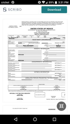 Translation sample mexican birth certificate template spanish find this pin and more on translationinterpretation by curiel0553 yadclub Gallery