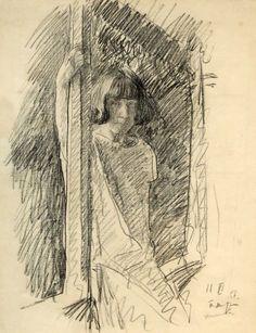 Петр Митурич – Портрет Веры Хлебниковой-Митурич, 1927