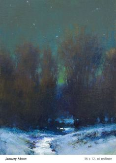 Small Paintings, Seascape Paintings, Beautiful Paintings, Beautiful Landscapes, Landscape Paintings, Oil Paintings, Painting Snow, Winter Painting, Winter Art